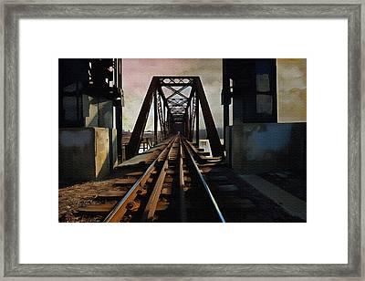 Train Rail Bridge  Framed Print by L Wright