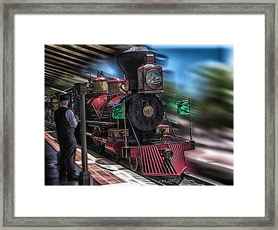 Train Ride Magic Kingdom Framed Print by Thomas Woolworth
