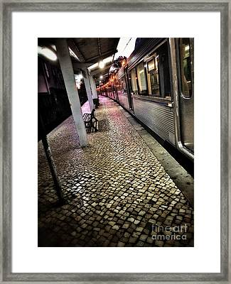 Train Station Framed Print by Carlos Caetano