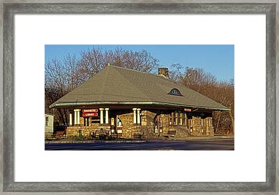 Train Stations And Libraries Framed Print by Skip Willits