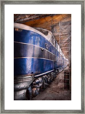 Train - The Maintenance Facility  Framed Print by Mike Savad