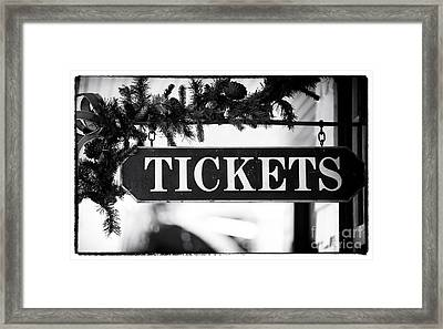 Train Tickets Framed Print by John Rizzuto