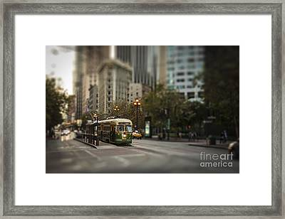 Train To Fishermans Warf Framed Print by Darcy Michaelchuk