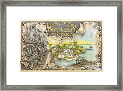 Train To Paradise Framed Print by Mike Williams