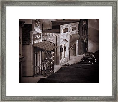 Train Town Framed Print by Ron Roberts