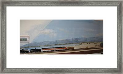 Train Tracks By Salton Sea Framed Print by Maria Hunt