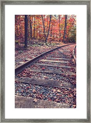 Train Tracks Framed Print by Edward Fielding