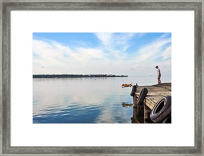 Training Day Framed Print by Donnie Smith