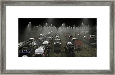 Trainsets Framed Print by Leif L?ndal