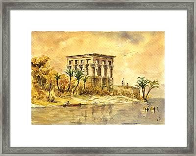 Trajan Kiosk Temple Aswan Egypt Framed Print by Juan  Bosco
