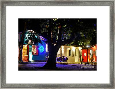 Trancoso - Bahia - By Night Framed Print by Carlos Alkmin