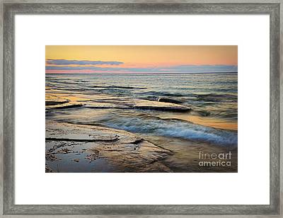 Tranquil Dusk Framed Print by Charline Xia