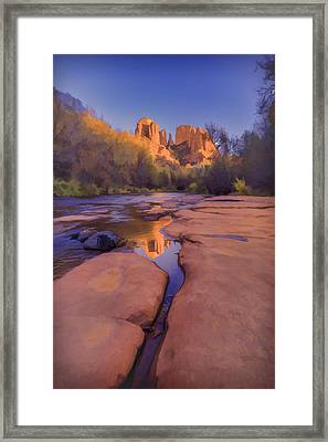 Tranquil Fire Watercolor Framed Print by Scott Campbell