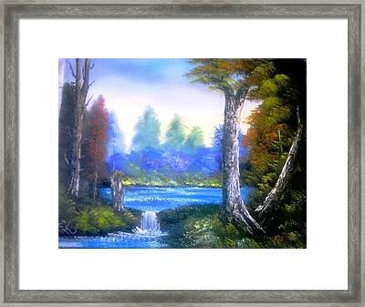 Tranquil Lake Framed Print by Fineartist Ellen