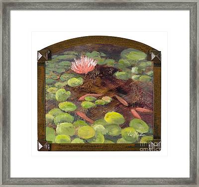 Tranquil Moments With Gold Leaf By Vic Mastis Framed Print by Vic  Mastis