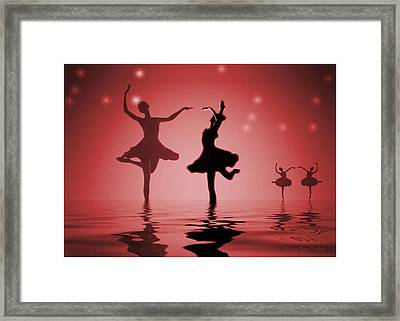 Tranquil Persuasion In Red Framed Print by Joyce Dickens