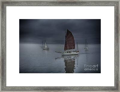 Tranquil Sailing Framed Print by Whidbey Island Photography