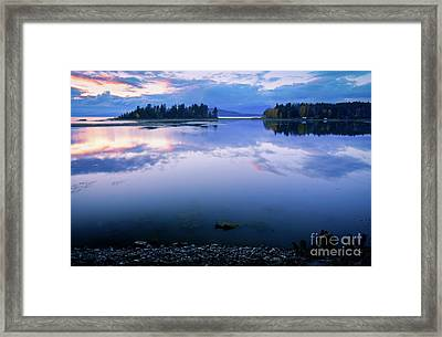 Tranquil Sunset Framed Print by Idaho Scenic Images Linda Lantzy