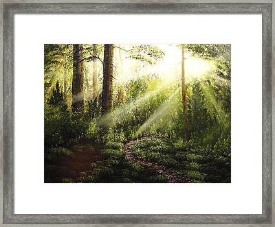 Tranquil Time Framed Print by Xochi Hughes Madera