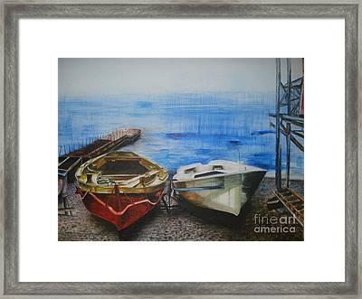 Tranquility Till Tide From The Farewell Songs Framed Print by Prasenjit Dhar
