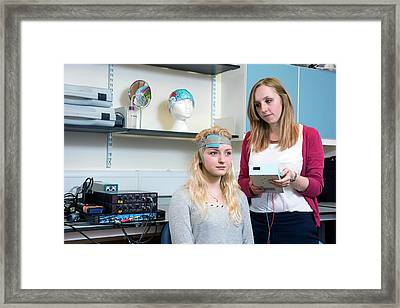 Transcranial Direct Current Stimulation Framed Print by John Cairns Photography/oxford University Images