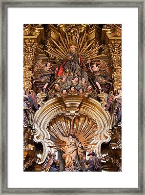 Transfiguration Of The Lord On Mount Tabor In Sevilla Cathedral Framed Print by Artur Bogacki