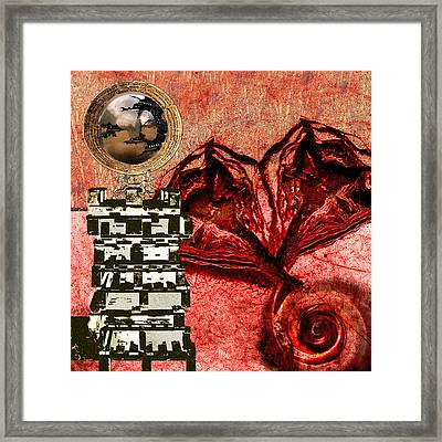 Transfusion Into A Wooden Heart Framed Print by Maria Jesus Hernandez