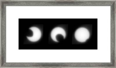 Transit Of Phobos Across The Sun Framed Print by Nasa/jpl/cornell