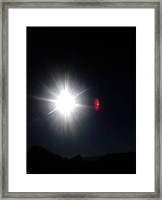Transit Of Venus 2012 Rare Capture Framed Print by Ruth Clotworthy