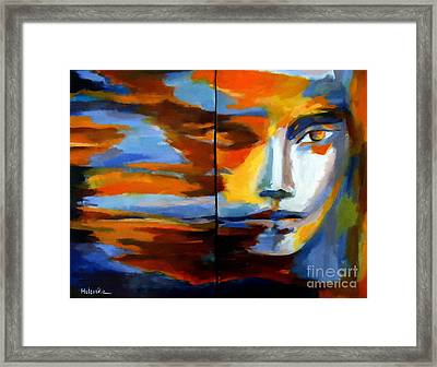 Transition - Diptic Framed Print by Helena Wierzbicki