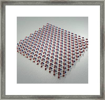 Transition Metal Dichalcogenide Monolayer Framed Print by Robert Brook