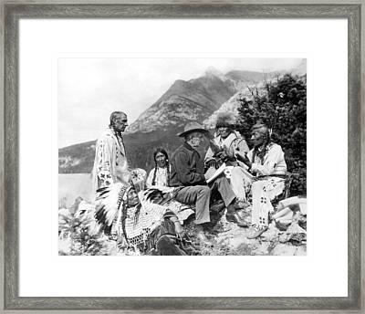 Translating Native Legends Framed Print by Underwood Archives