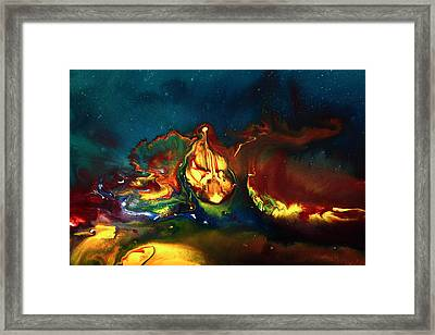Translucent Yellow Abstract Artwork-demon By Kredart Framed Print by Serg Wiaderny
