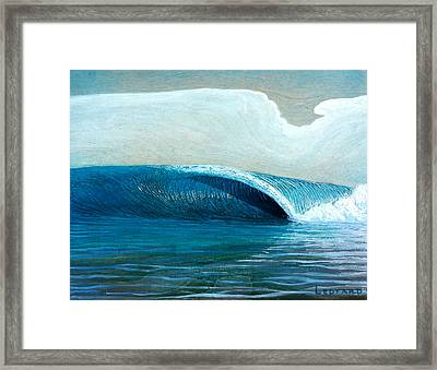 Transparent Sea Framed Print by Nathan Ledyard