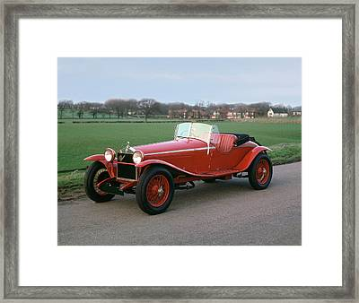 Transport Car 1929 Alfa Romeo Framed Print by Panoramic Images
