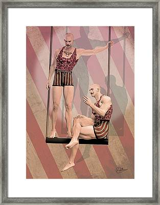Trapezist Brothers Framed Print by Quim Abella