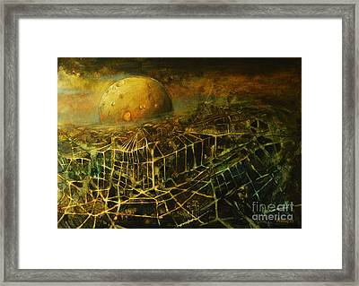 Trapped By The Moon Framed Print by Michal Kwarciak