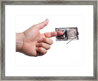 Trapped Finger Framed Print by Sinisa Botas