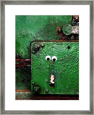 Trapped In A Flat Life Framed Print by Donatella Muggianu