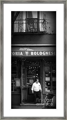 Trattoria Framed Print by Miriam Danar