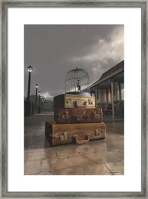 Traveling Framed Print by Cynthia Decker