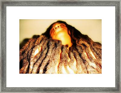 Traveling In The Body He Gave Me Framed Print by Fania Simon