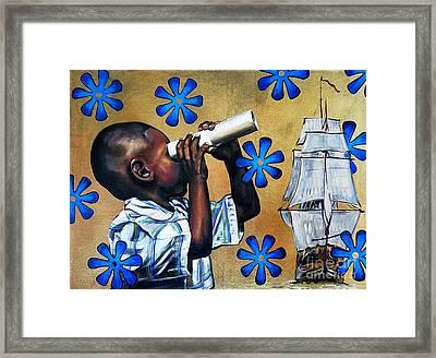 Traveling Miles II Framed Print by Clayton Singleton