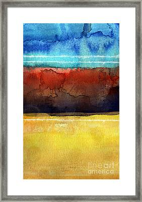 Traveling North Framed Print by Linda Woods