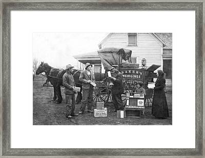 Traveling Salesman Framed Print by Underwood Archives