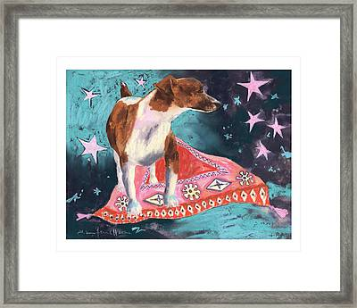 Travelling Terrier Framed Print by Alison Fennell
