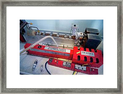 Travelling Wave Tubes Framed Print by Mark Williamson