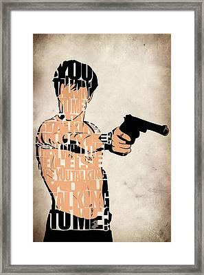 Travis Bickle - Robert De Niro Framed Print by Ayse Deniz