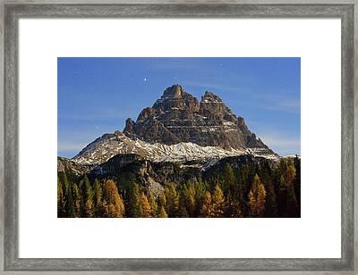 Tre Cime Di Lavaredo Framed Print by Bob Gibbons