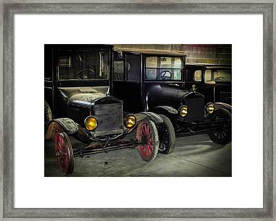 Treads Of Time Framed Print by Karen Wiles